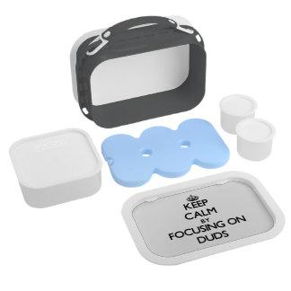 Keep Calm by focusing on Duds Yubo Lunchbox