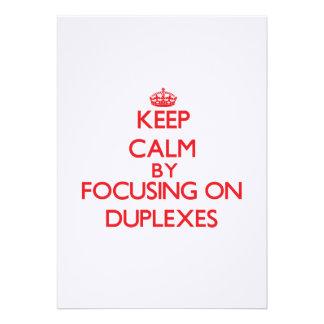 Keep Calm by focusing on Duplexes Custom Invitations