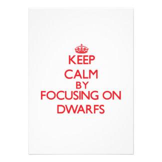 Keep Calm by focusing on Dwarfs Custom Invitation