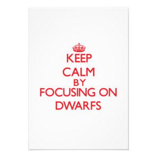 Keep Calm by focusing on Dwarfs Custom Invites