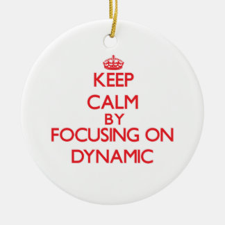 Keep Calm by focusing on Dynamic Christmas Tree Ornament