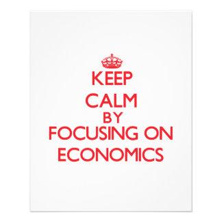 Keep Calm by focusing on ECONOMICS Flyer Design