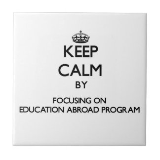 Keep calm by focusing on Education Abroad Program Tile