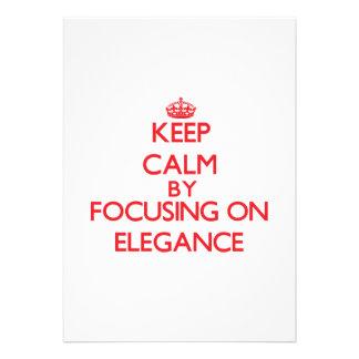 Keep Calm by focusing on ELEGANCE Custom Invites