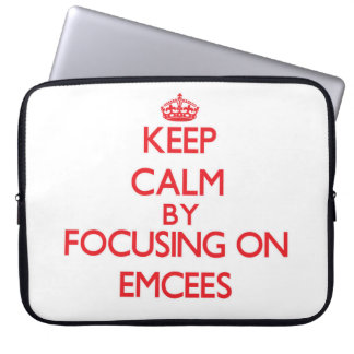 Keep Calm by focusing on EMCEES Laptop Computer Sleeve