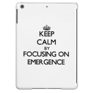 Keep Calm by focusing on EMERGENCE iPad Air Covers