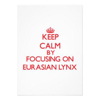 Keep calm by focusing on Eurasian Lynx Card