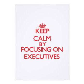 Keep Calm by focusing on EXECUTIVES Cards