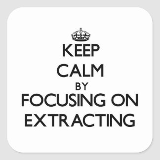 Keep Calm by focusing on EXTRACTING Stickers