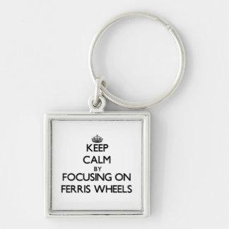 Keep Calm by focusing on Ferris Wheels Keychains