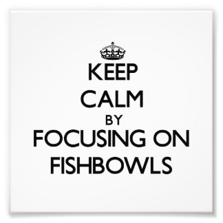 Keep Calm by focusing on Fishbowls Photo Art