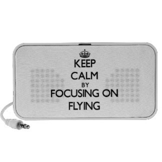 Keep Calm by focusing on Flying Travel Speakers