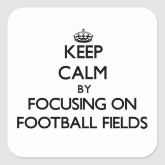 Keep Calm by focusing on Football Fields Stickers