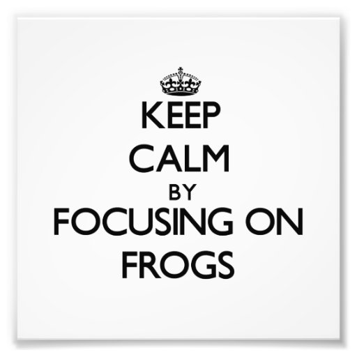Keep Calm by focusing on Frogs Photographic Print