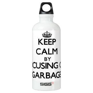 Keep Calm by focusing on Garbage SIGG Traveler 0.6L Water Bottle
