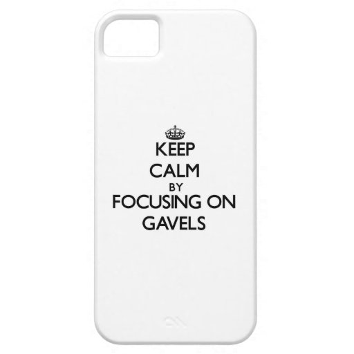 Keep Calm by focusing on Gavels iPhone 5/5S Case