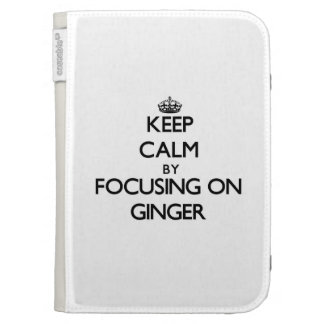 Keep Calm by focusing on Ginger Kindle Folio Case