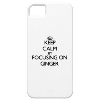 Keep Calm by focusing on Ginger iPhone 5/5S Cover