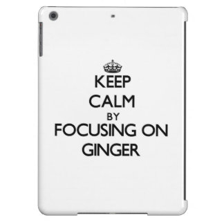 Keep Calm by focusing on Ginger Cover For iPad Air