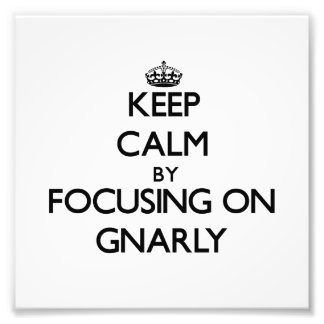 Keep Calm by focusing on Gnarly Photo Print