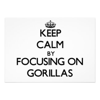 Keep Calm by focusing on Gorillas Cards