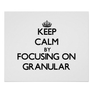 Keep Calm by focusing on Granular Posters