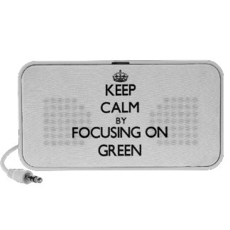 Keep Calm by focusing on Green Travel Speakers