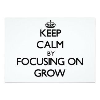 Keep Calm by focusing on Grow Cards