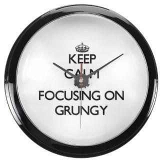 Keep Calm by focusing on Grungy Aqua Clocks