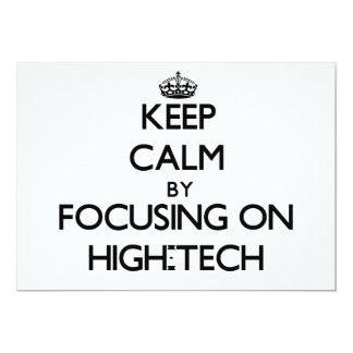 Keep Calm by focusing on High-Tech Card
