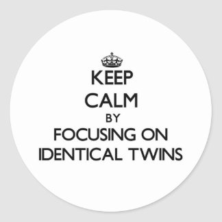 Keep Calm by focusing on Identical Twins Sticker