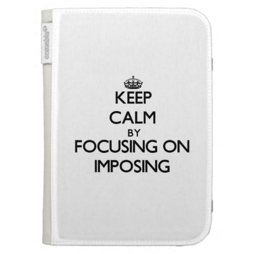 Keep Calm by focusing on Imposing Kindle 3 Cover