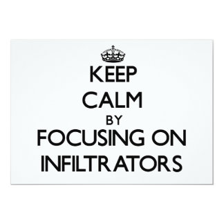 Keep Calm by focusing on Infiltrators Personalized Announcements