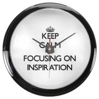 Keep Calm by focusing on Inspiration Aquavista Clock