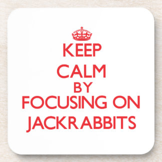 Keep calm by focusing on Jackrabbits Coasters