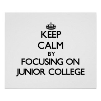 Keep Calm by focusing on Junior College Print