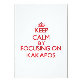 Keep calm by focusing on Kakapos 13 Cm X 18 Cm Invitation Card