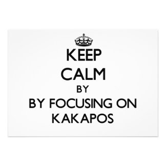 Keep calm by focusing on Kakapos Cards