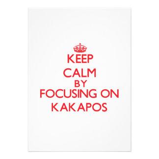 Keep calm by focusing on Kakapos Invite