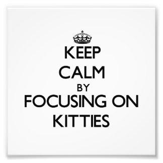 Keep Calm by focusing on Kitties Photo Print
