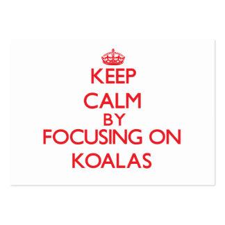 Keep calm by focusing on Koalas Business Card Templates