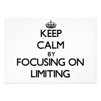 Keep Calm by focusing on Limiting Custom Invites