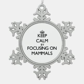 Keep Calm by focusing on Mammals Ornaments
