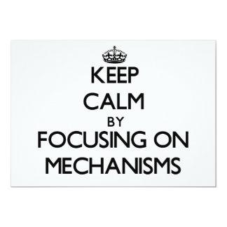 Keep Calm by focusing on Mechanisms Cards