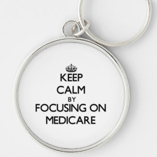 Keep Calm by focusing on Medicare Key Chain