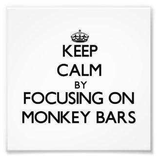 Keep Calm by focusing on Monkey Bars Photo
