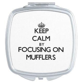 Keep Calm by focusing on Mufflers Vanity Mirror