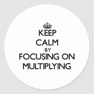 Keep Calm by focusing on Multiplying Round Stickers