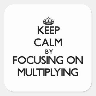 Keep Calm by focusing on Multiplying Sticker