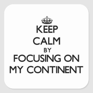 Keep Calm by focusing on My Continent Stickers